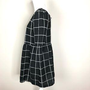 Boohoo Dresses - Boohoo Textured Check Square Neck Smock Dress